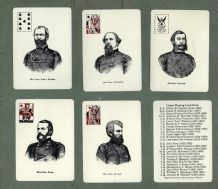 Collectable vintage playing cards Confederate Generals (2)